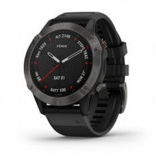 Garmin - fēnix 6S - Pro - Sapphire - Carbon Gray DLC with Black Band