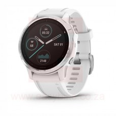 Garmin - fenix 6S - Silver w/White Band