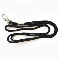 Acme Black Nylon Lanyard With Steel Swivel Hook