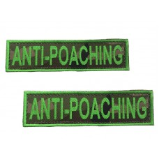 Badge For Service Dog Harness - ANTI-POACHING - (pair)