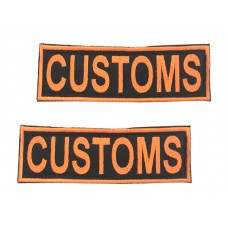 Badge For Service Dog Harness - CUSTOMS - (pair)