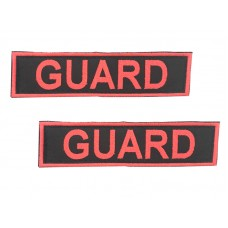 Badge For Service Dog Harness - GUARD - (pair)