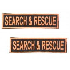 Badge For Service Dog Harness - SEARCH & RESCUE - (pair)