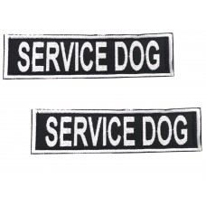 Badge For Service Dog Harness - SERVICE DOG - (pair)