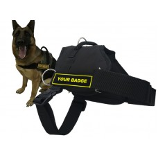 Harness Black - Service Dog Large (Excludes Badge)