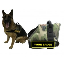 Harness Camo - Service Dog Large (Excludes Badge)