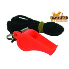 Basic Training Whistle with lanyard -Orange-Packaged By D.T. Systems