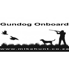 Bumper Sticker GUNDOG ONBOARD Black