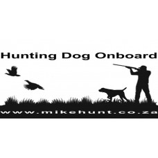 Bumper Sticker HUNTING DOG ONBOARD Black