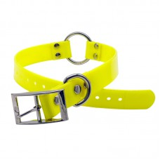 PVC Collar With Quick Attach Ring Large 65cm x 2.5cm Yellow